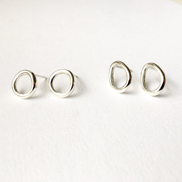 Silver Anika earrings on www.wyckoffsmith.com
