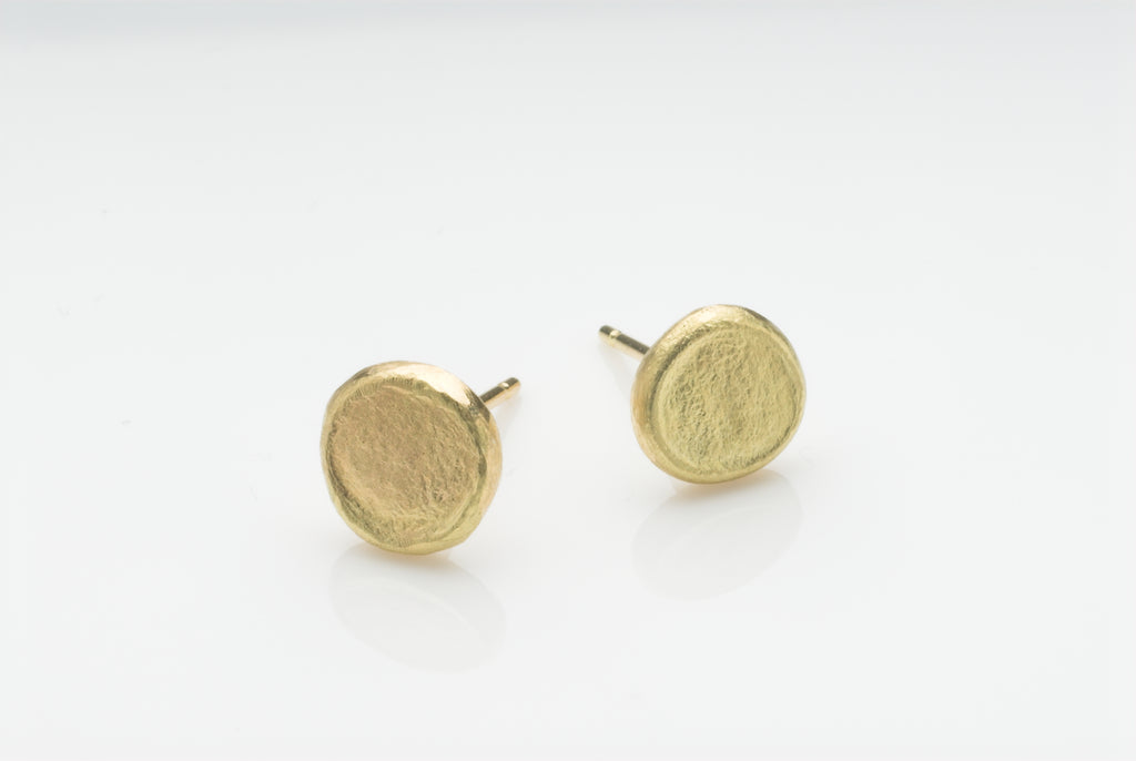 Gold Stud Shen Earrings