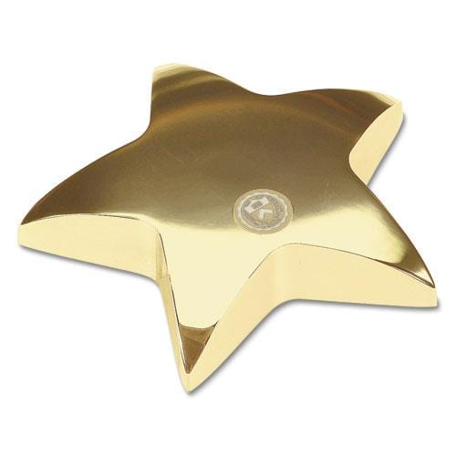 Princeton Shiny Brass Star Paperweight