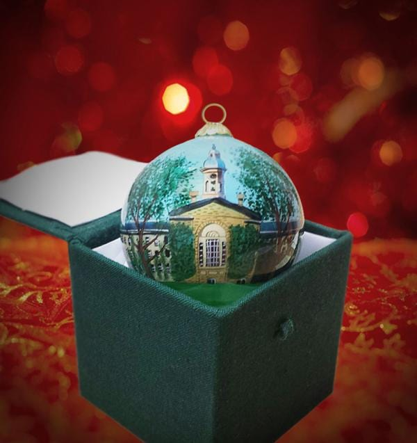 Nassau Hall Glass Ball Ornament