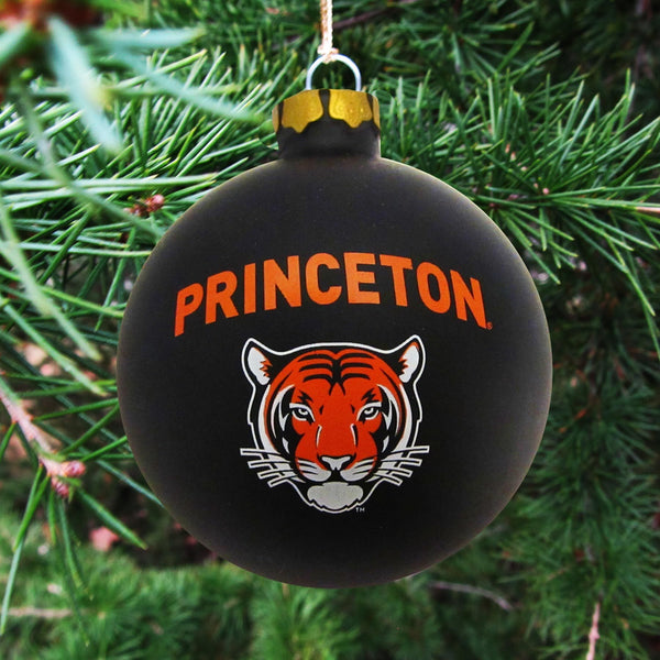 Mascot Tiger Glass Ball Ornament