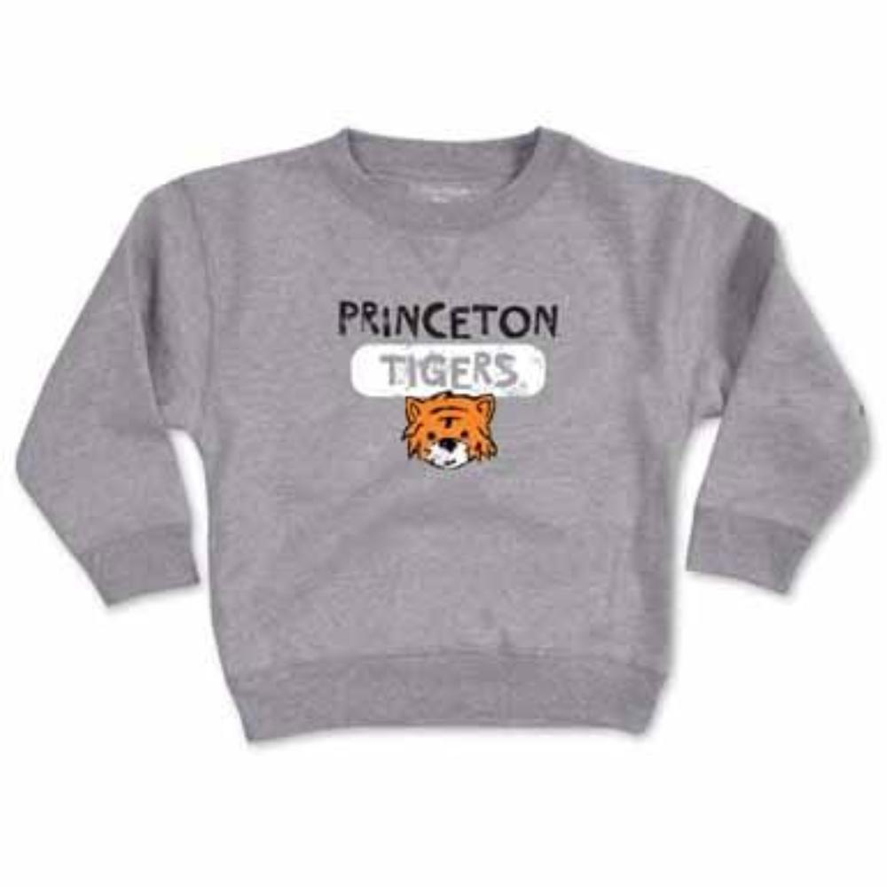 Princeton - Toddler - Striped P - Crewneck Sweatshirt