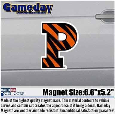 Big Striped P Car Magnet