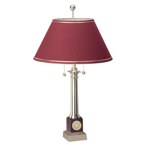 Marble Base Rosewood/Brass Lamp