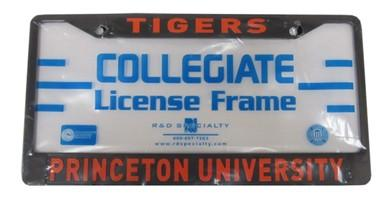 Princeton Tigers - Black - License Plate Frame/Holder