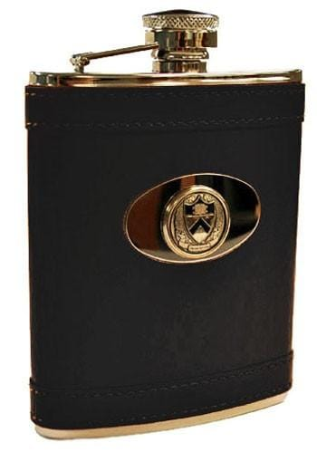 Princeton Leather Covered Flask (Black)