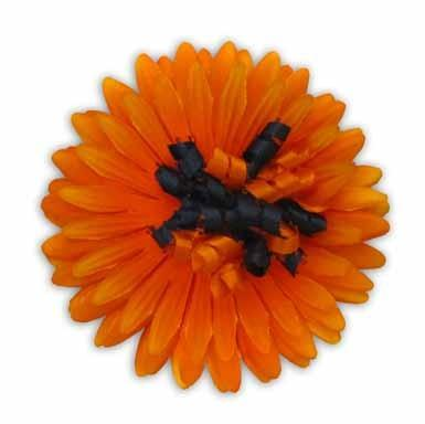 Orange Flower Barrette