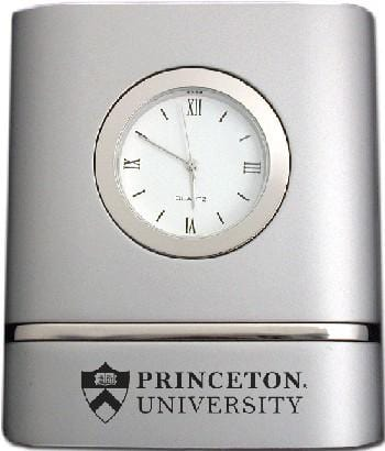 Princeton Two Tone Brushed Silver Desk Clock