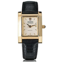 Women's Gold Quad Watch with Leather Strap