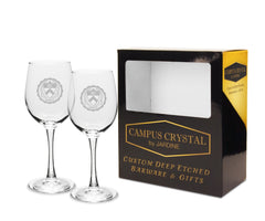 Campus Crystal 12 oz.Wine Glasses (Set of 2)