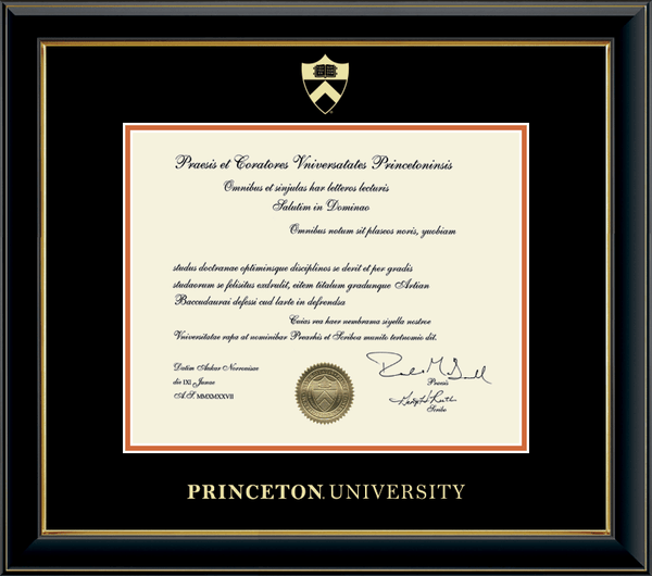 Embossed Onyx Gold Diploma Frame