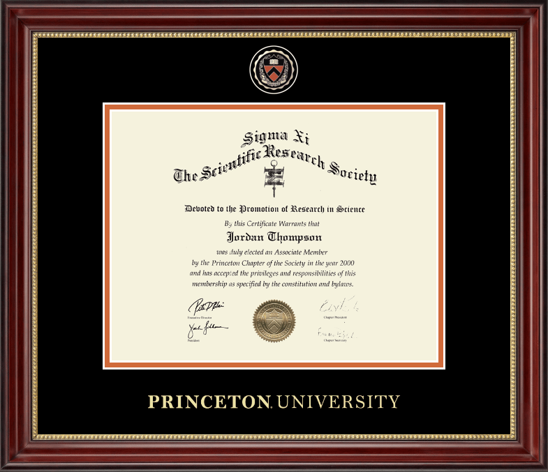 Certificate Frame Horizontal The Princeton University Store