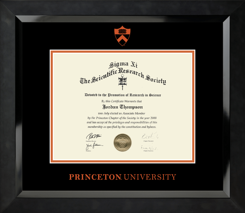Embossed Eclipse Diploma Frame