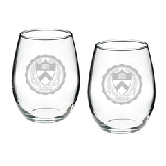 Campus Crystal 21 oz. Stemless Wine Glasses (set of 2)