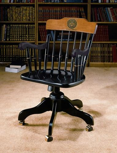Swivel Desk Chair - Black with Personalization