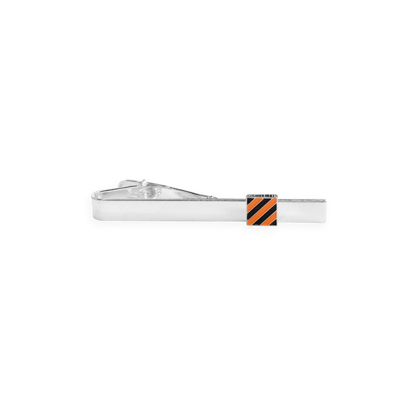 Princeton Enamel Square Striped Tie Clip - Radley Collection