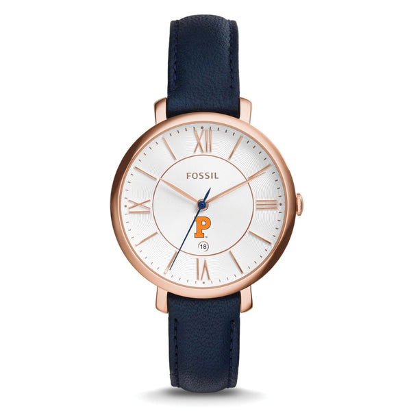 Fossil Ladies Solid P Leather Band Watch