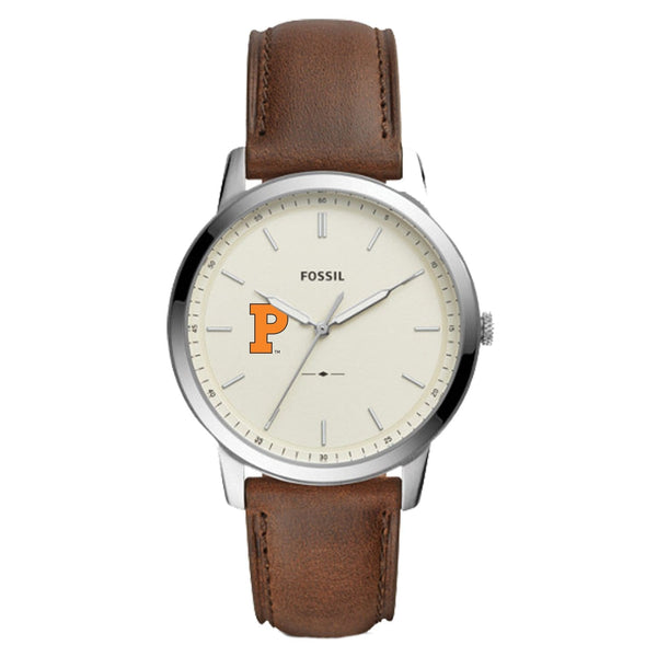 Fossil Men's Solid P Leather Strap Watch
