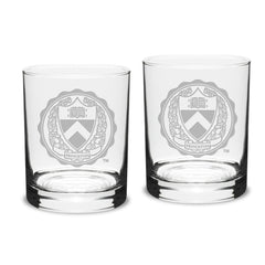 Campus Crystal 14 oz. Classic Double Old Fashion Glasses (Set of 2)