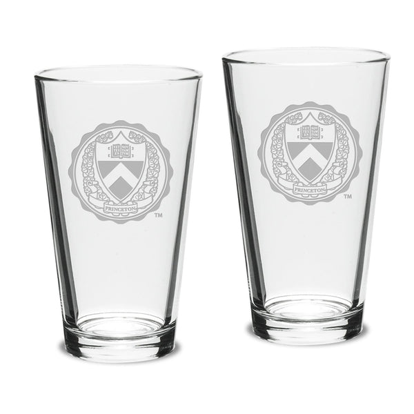Campus Crystal 16 oz.  Classic Pub Glasses (Set of 2)
