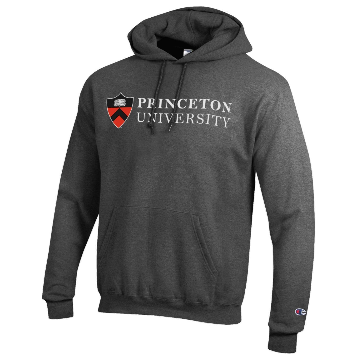 c38b97767 Champion Screen Print Stacked Shield Hood | The Princeton University ...