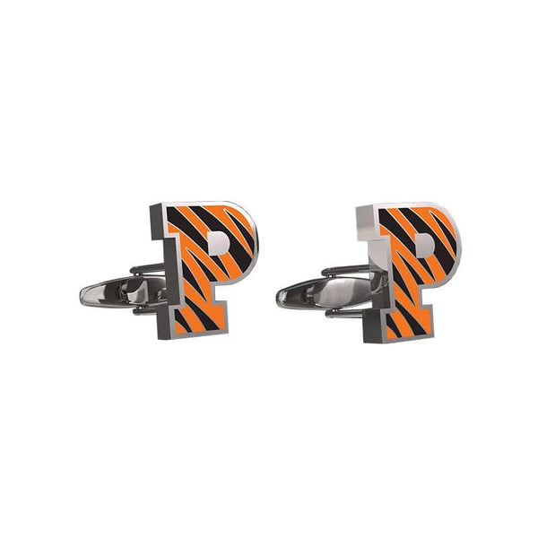 Striped P Cuff Links
