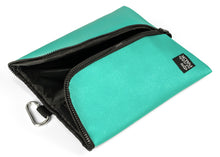 Insulated lunch bag. Aquamarine. Folds flat for easy storage and maximum capacity. The Mighty Stash Pack is used for travel, gym, road trips, and meals. Buy yours for $19.95.