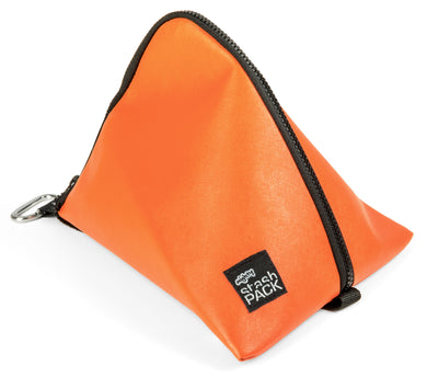 Insulated lunch bag. Orange. Folds flat for easy storage and maximum capacity. The Mighty Stash Pack is used for travel, gym, road trips, and meals. Buy yours for $19.95.