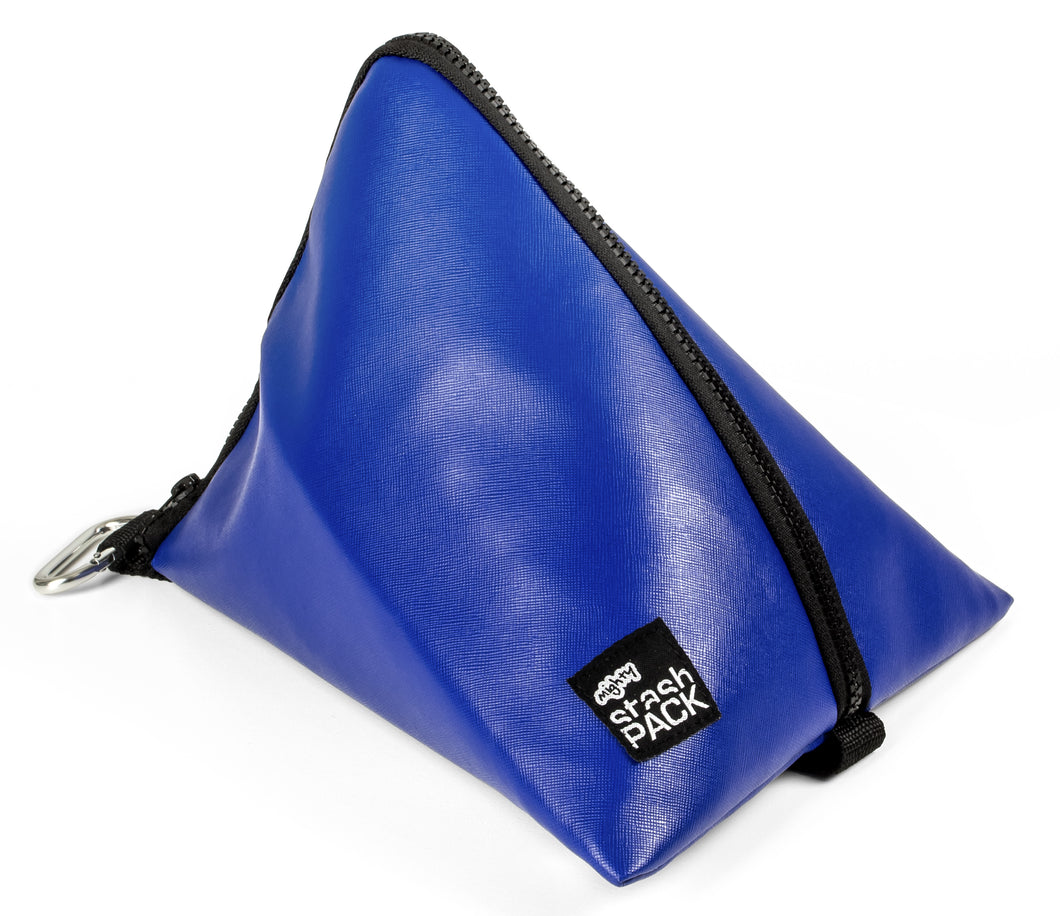 Insulated lunch bag. Cobalt. Folds flat for easy storage and maximum capacity. The Mighty Stash Pack is used for travel, gym, road trips, and meals. Buy yours for $19.95.