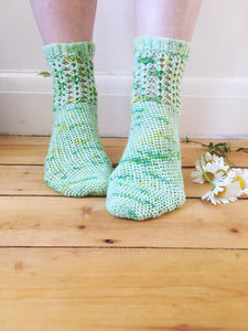 Crochet Pattern - Gladioli Socks