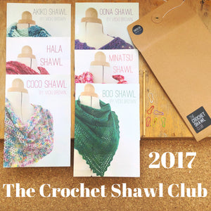The Crochet Shawl Club 2017 - Print Pattern Collection