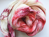 Candy Canes - Hand dyed - 4ply/sock yarn - 100g/400m - superwash merino - nylon - sparkle