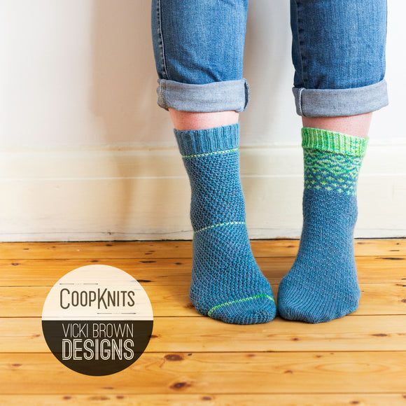 Coop Knits Collaboration Socks Kit - Beryl