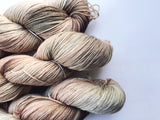 Hot Cocoa - Hand dyed 4ply/sock yarn 100g/425m superwash merino, nylon blend