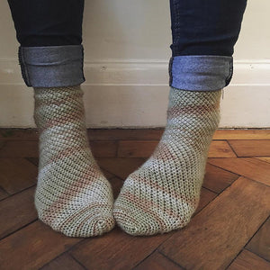 Crochet Pattern - Fallen Leaves Socks