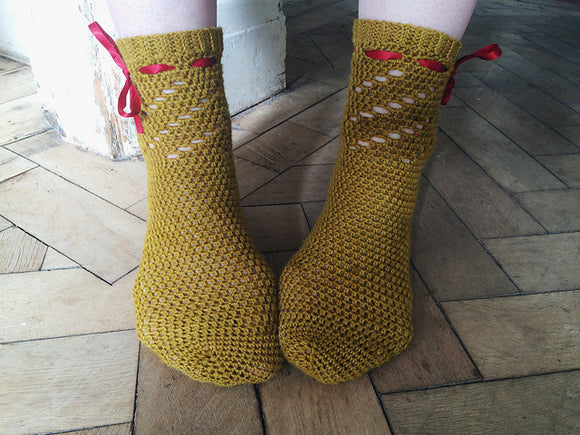 Crochet Pattern - Twirl Socks