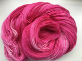 Magenta - Hand dyed 4ply/sock yarn 100g/400m superwash merino, bamboo blend