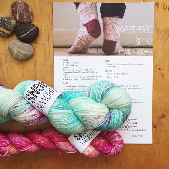 Crochet Pattern - Sweetheart Socks - PRINT copy