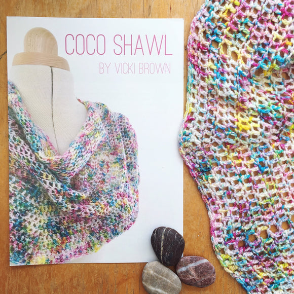 Crochet Pattern - Coco Shawl - PRINT copy