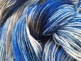 Ravenclaw - Hand dyed - 4ply/sock yarn - 100g/400m - superwash merino - nylon - with sparkle