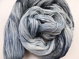 New Moon- Hand dyed - 4ply/sock yarn - 100g/400m - superwash merino - nylon - sparkle