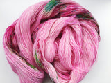 Cherry Blossom - Hand dyed 4ply/sock yarn 100g/366m superwash merino singles