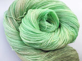 Granny Smith - Hand dyed 4ply/sock yarn 100g/425m superwash merino, nylon blend