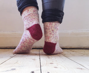 Crochet Pattern - Sweetheart Socks