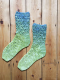 Crochet Pattern - Trailing Lace Socks - PRINT copy