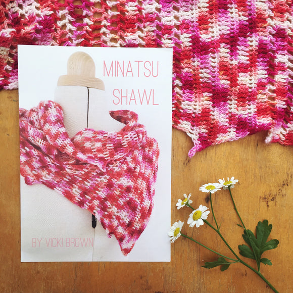 Crochet Pattern - Minatsu Shawl - PRINT copy