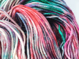 Vintage Christmas - Hand dyed-  DK - yarn - 100g/225m - superwash merino - nylon - sparkle