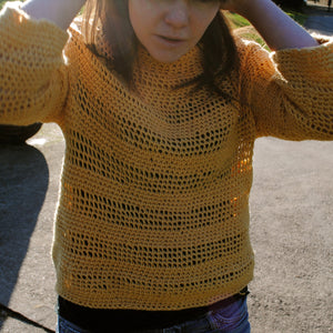 crochet pattern - women's january pullover