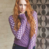 Crochet Pattern - Women's Lacy Sweater