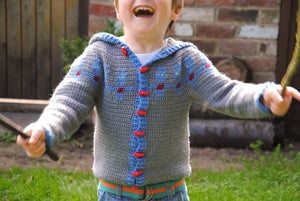 Crochet Pattern - Child's Robot Hoodie